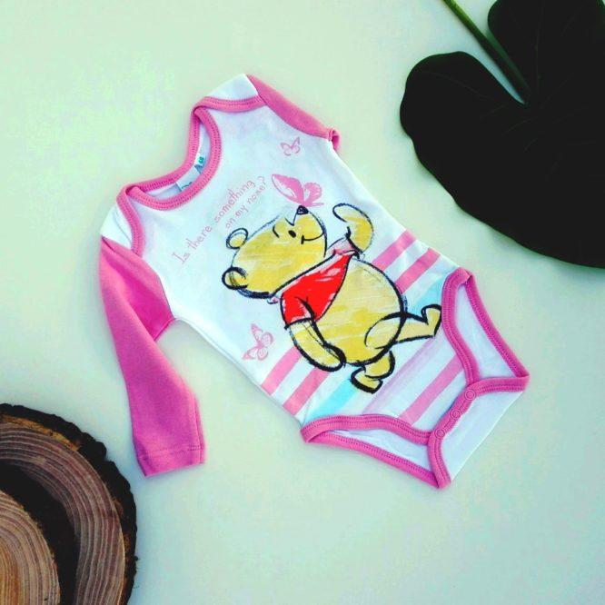 body winnie the pooh rosa a maniche lunghe