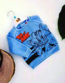 maglione tom e jerry azzurro