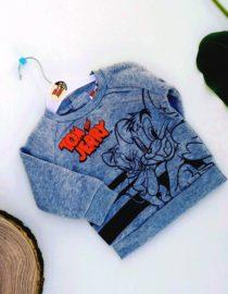 maglione tom e jerry grigio