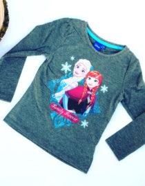 Maglietta Frozen bambina grigia