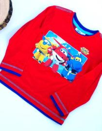 Maglietta Super Wings bambino rossa