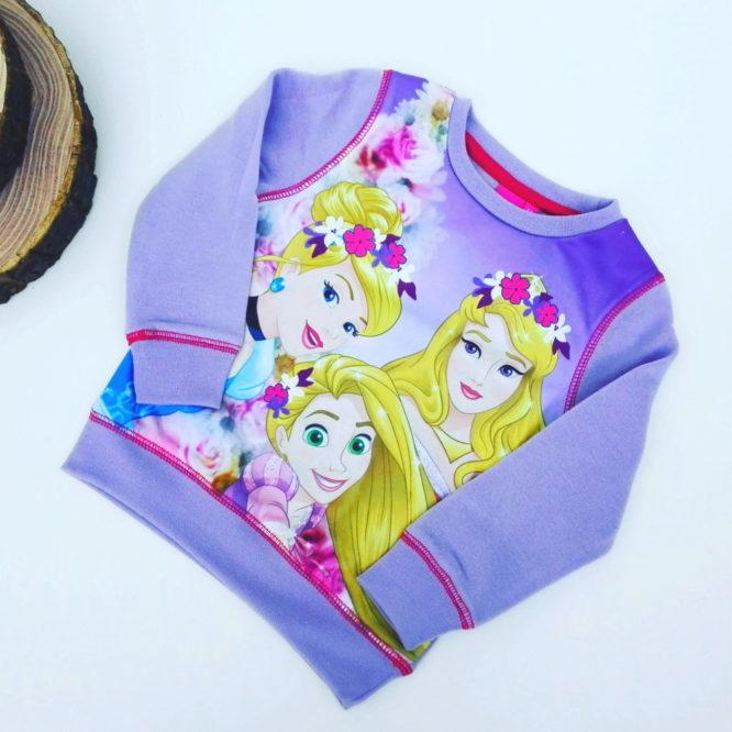 Maglione Principesse bambina lilla