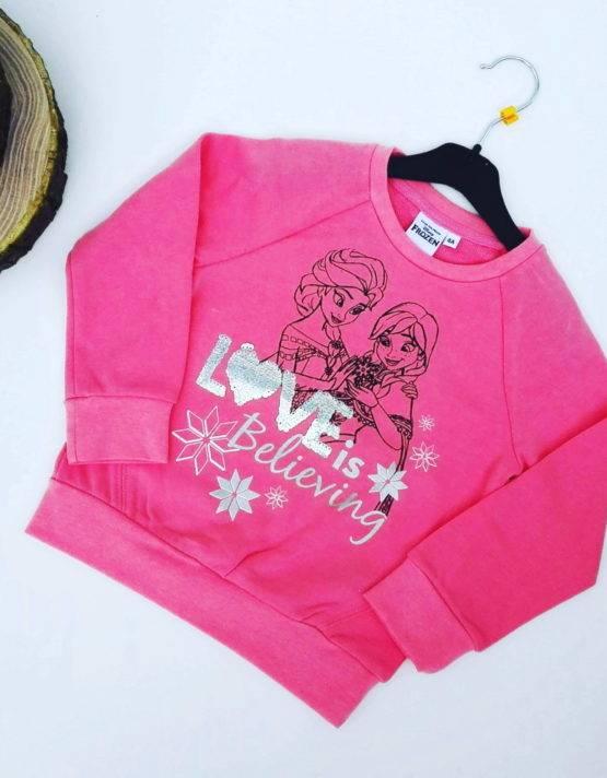 Maglione Frozen bambina rosa