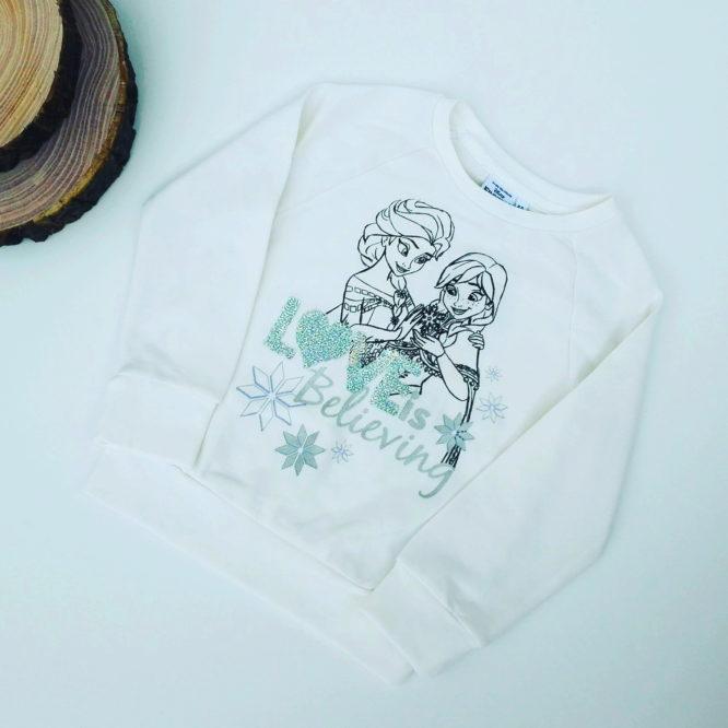 Maglione Frozen bambina bianco