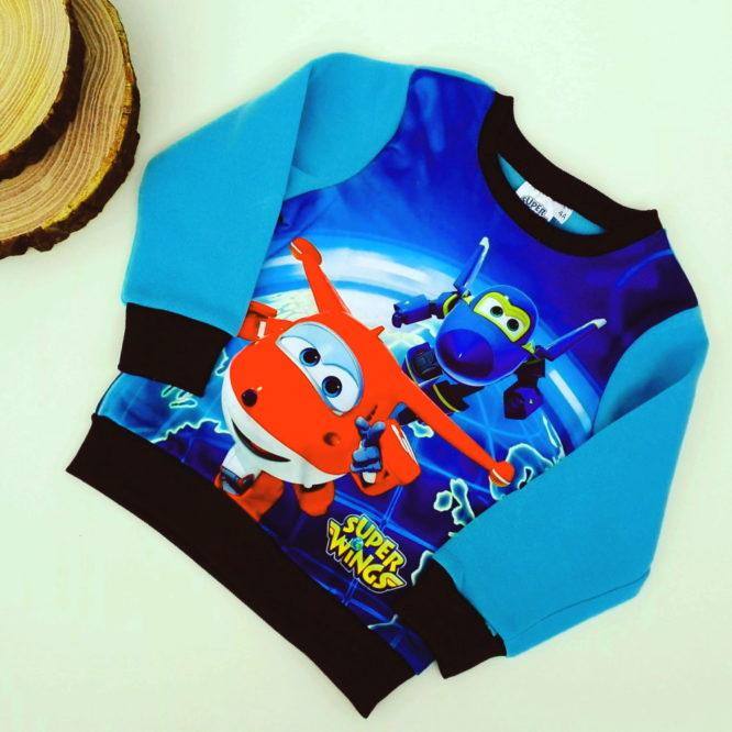 Maglione Super Wings bambino blu