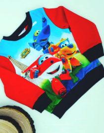 Maglione Super Wings bambino rosso
