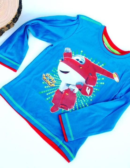 Maglietta Super Wings bambino turchese scuro