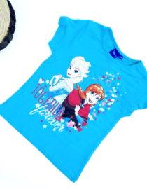 maglietta frozen bambina celeste a maniche corte
