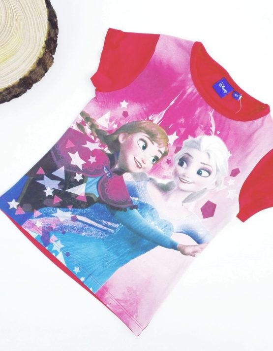 maglietta frozen bambina a maniche corte