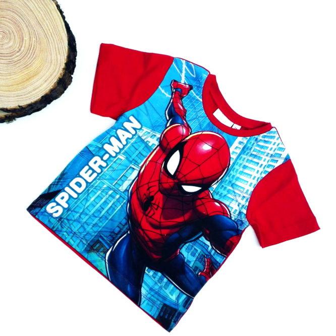 maglietta spiderman bambino rossa