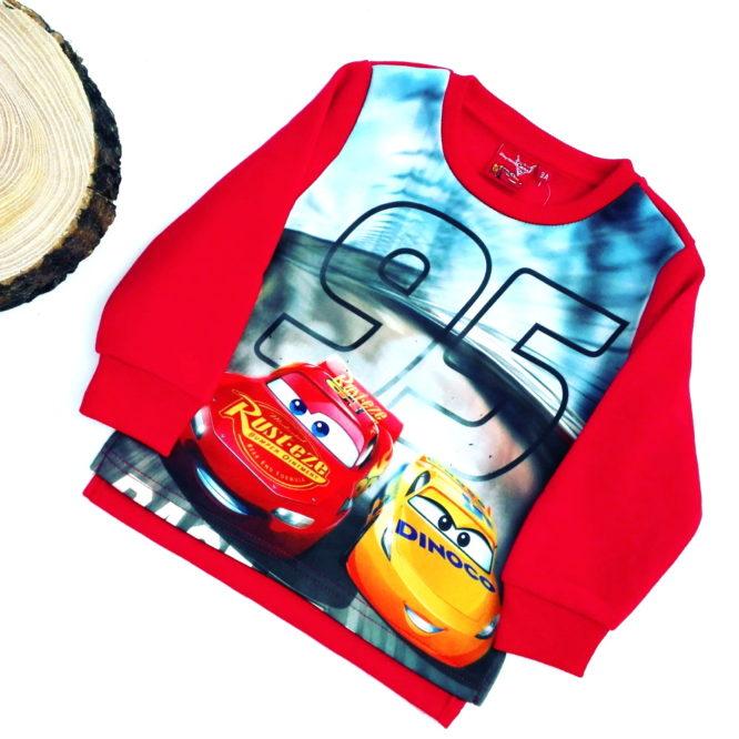maglione disney cars bambino rosso