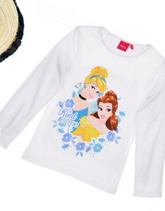 maglietta principesse disney bambina bianca