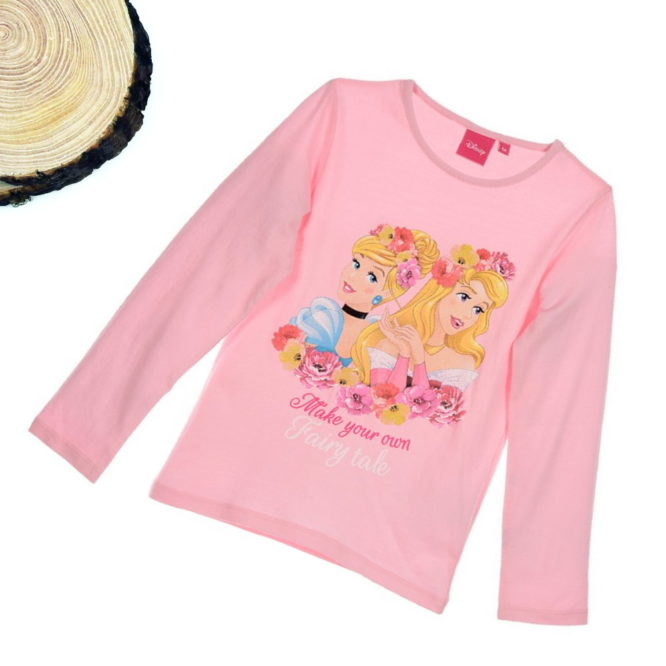 maglietta principesse disney bambina rosa pastello