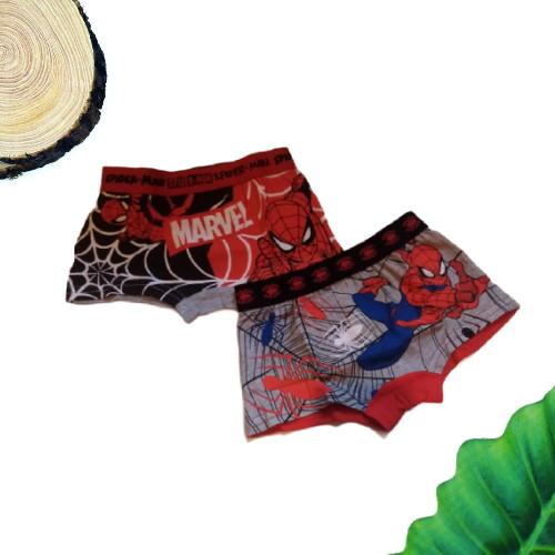 Set 2 boxer bambino grigio e rosso Spiderman 1