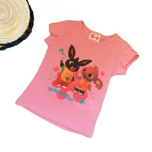 maglietta bing e sula rosa a maniche corte