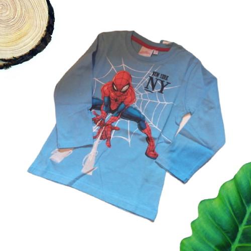 maglietta spiderman celeste