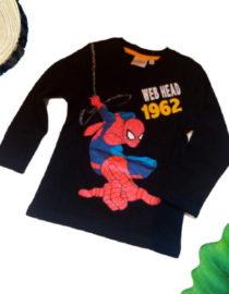 Maglietta Spiderman a manica lunga nera bambino 1