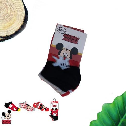 calzini topolino pack 3 rossi