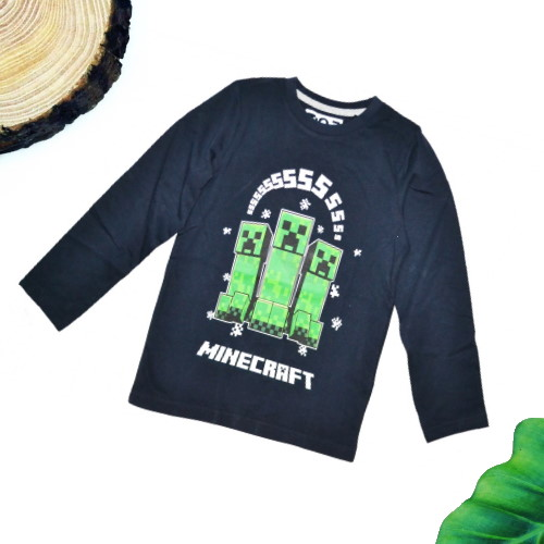 maglietta minecraft bambino